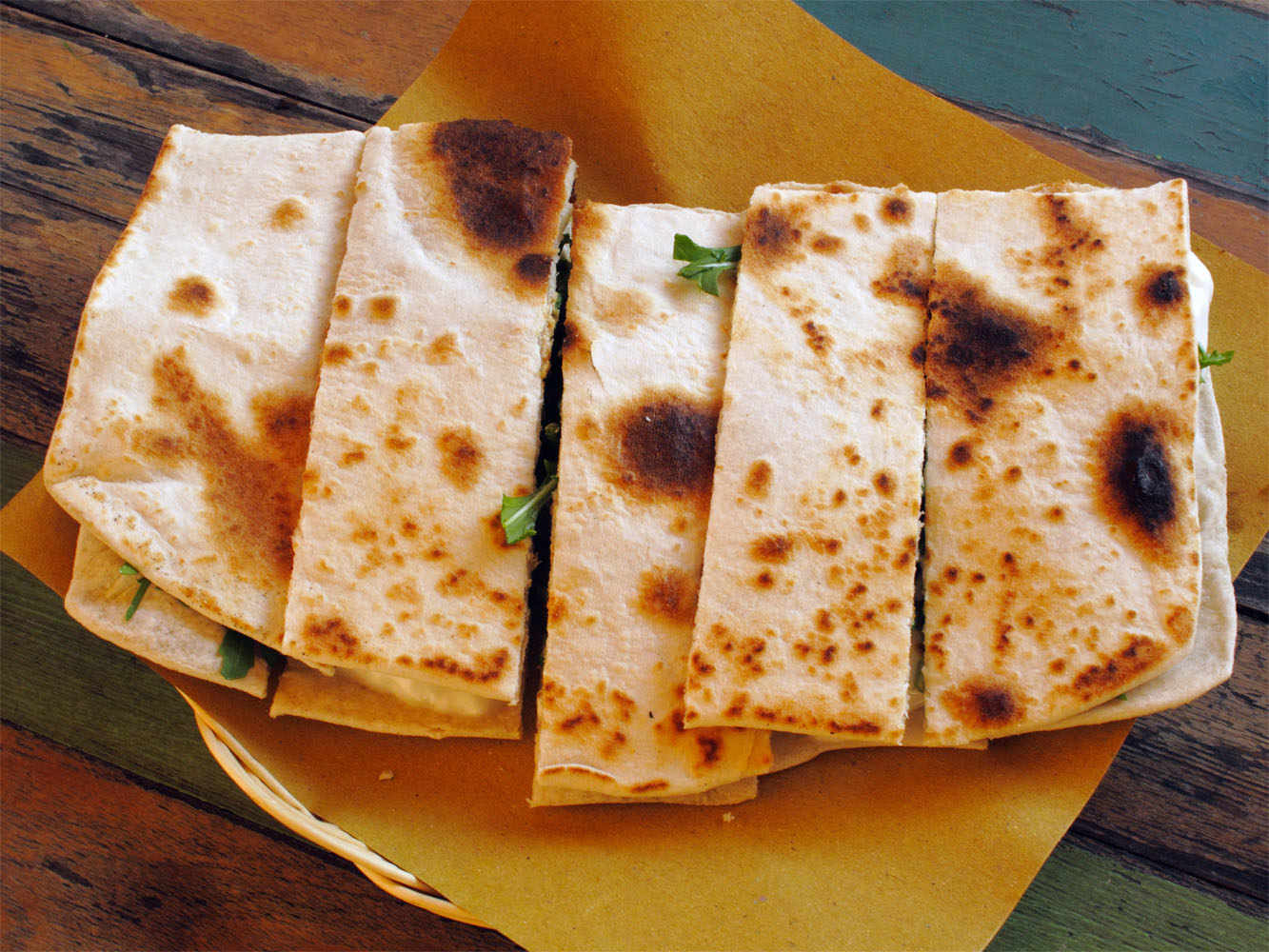 Piadina lends itself perfectly to processed and cured meats